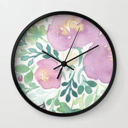 Pink and Green Wall Clock