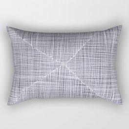 Ink Weaves: White Quartz Rectangular Pillow