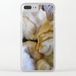 Snuggle Kittens Clear iPhone Case