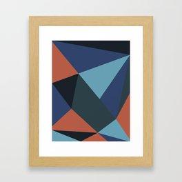 Salmon Geometry Framed Art Print