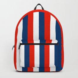 Retro Stripes Pop Art - Red White Blue Backpack