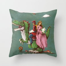 historical reconstitution Throw Pillow