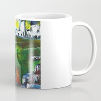 lighthouse Mugs featuring lighthouse by Nastya Bo