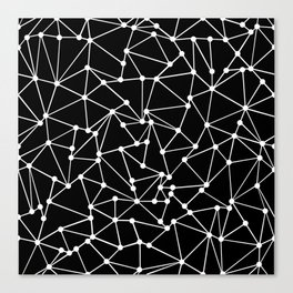 Ab Out Black Spots Canvas Print