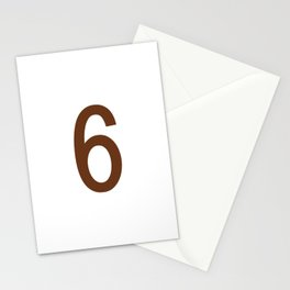 NUMBER 6 (BROWN-WHITE) Stationery Cards