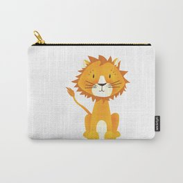 Cute lion illustration on white background Carry-All Pouch