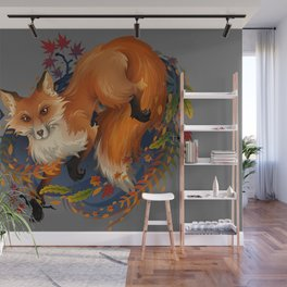 Sly Fox Spirit Animal Wall Mural