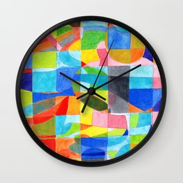 Grid with integrated Bizarre Shapes Wall Clock