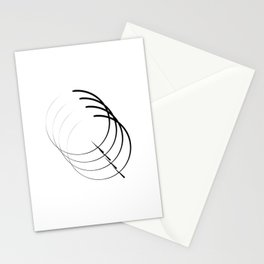 """ Eclipse Collection"" - Minimal Letter Q Print Stationery Cards"