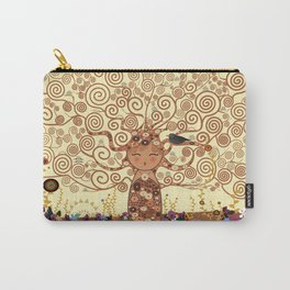 Kokeshi Tree of life Carry-All Pouch