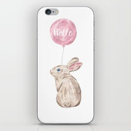 Rabbit Greetings iPhone Skin