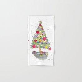 Christmas Tree Sketch Hand & Bath Towel