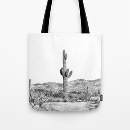 Cactus photography, balck and white Tote Bag