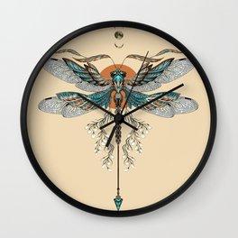 Dragonfly Tattoo Wall Clock