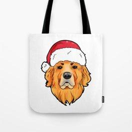 Golden Retriever Christmas Present Gif Tote Bag