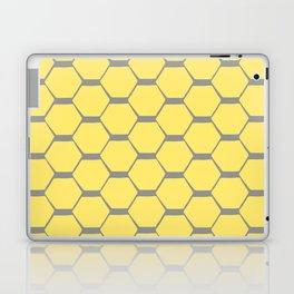 Grey and Yellow Hexagons Laptop & iPad Skin