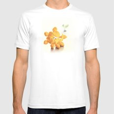 Yellow Clover Mens Fitted Tee White MEDIUM