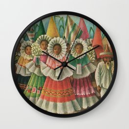 Mexico South by Miguel Covarrubias Wall Clock