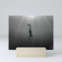 Diving Into The Unknown Mini Art Print