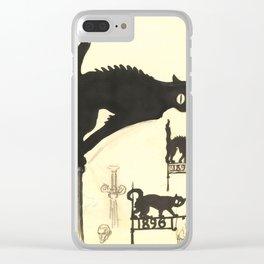 "Théophile Steinlen ""Black cats"" Clear iPhone Case"