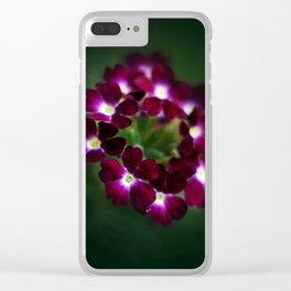 Purple verbena Clear iPhone Case