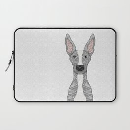 Blue and White Greyhound (white snout) Laptop Sleeve