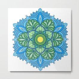 calm meditation mandala Metal Print