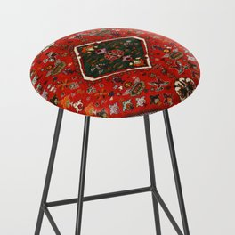 N65 - Colored Floral Traditional Boho Moroccan Style Artwork Bar Stool