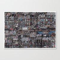 the neighbourhood Canvas Prints featuring Parisian Neighbourhood by Guillaume Cornet