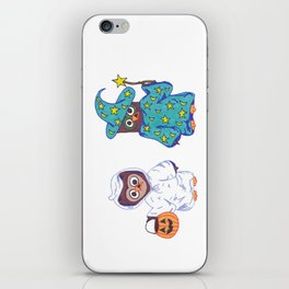 Trick or Treat Halloween Owls iPhone Skin