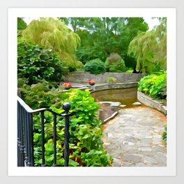 Irish Garden Art Print