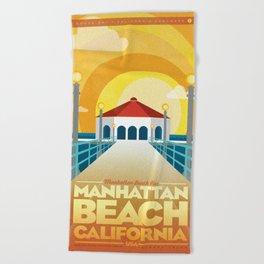 Manhattan Beach California Beach Towel