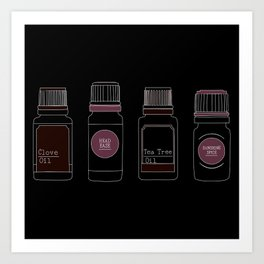 Essential Oils I Art Print