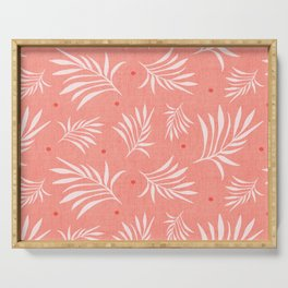 Island Breeze Living Coral Serving Tray