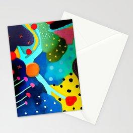 Abstract Art - Lagoon mushrooms rupydetequila amazonia dots cheetah Stationery Cards