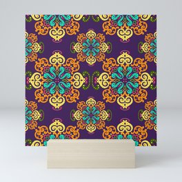 Ethnic Curlsley patterns-5 Mini Art Print
