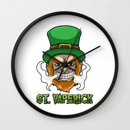 St. Vaperick - Vaping Leprechaun - Vape Ireland Wall Clock