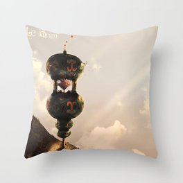 The Cherry Blossom tree tower Throw Pillow