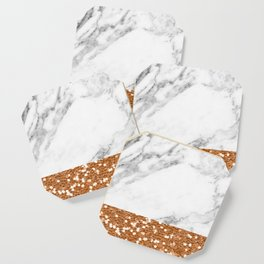 Marble and brass glitter Coaster