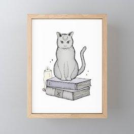Witches Cat Framed Mini Art Print