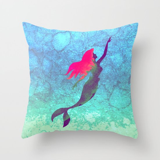 Throw Pillow Covers Society6 : Disney s The Little Mermaid Throw Pillow by Foreverwars Society6