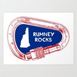Rumney Rocks Climbing Carabiner Art Print