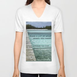 Path to Happiness Unisex V-Neck