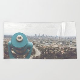 The View: Mulholland Beach Towel