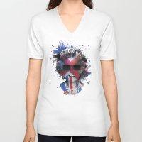 deadmau5 V-neck T-shirts featuring Queen Listen Music by Sitchko Igor