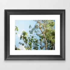 Blue skies are coming Framed Art Print