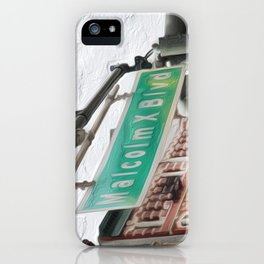 Malcom X Blvd iPhone Case