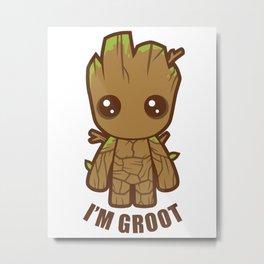 CuteGroot Metal Print