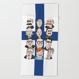 Presidents of Finland Beach Towel