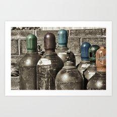 Bottle Heads Art Print